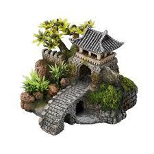 idee deco aquarium décoration d u0027aquarium gate bridge l15 7xl13 5xh11 5 cm europet