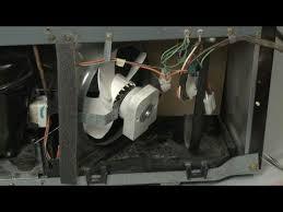 refrigerator condenser fan ge refrigerator replace condenser fan motor wr60x10350 youtube