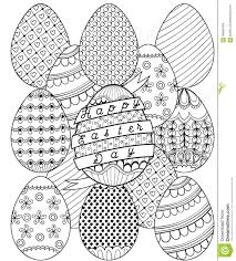 cute doodle floral easter egg coloring pages alric coloring pages
