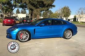 porsche blue satin perfect blue porsche panamera car wrap wrap bullys