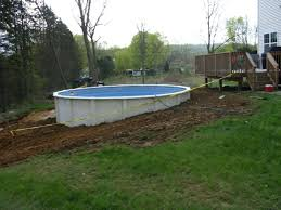 Cost Of Small Pool In Backyard Semi Inground Pool Sale Long Island Pool With Deck Semi Inground