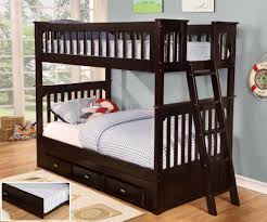 Bunk Bed Comforter Bedroom Furniture Sets Youth Espresso Bunk