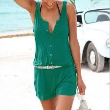 one shorts jumpsuit 3 colors summer romper jumpsuit shorts sleeveless