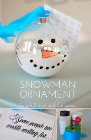 melted snowman ornament tutorial simple simon and company