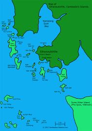 Map Of Cambodia Sihanoukville Island Map Map Of The Islands Around Sihanoukville