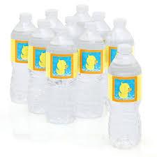 amazon com ducky duck party water bottle sticker labels set