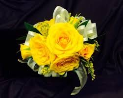 wrist corsage yellow wrist corsage in kirkwood mo kirkwood florist