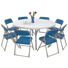 lightweight folding table and chairs national public seating lightweight plastic resin folding table 60