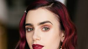 makeup tutorials exclusive lily collins shows us how to get ultra pretty rosebud lips july 13 2016 celebrity