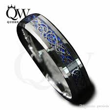 mens celtic rings 2017 mens celtic rings 6mm 8mm tungsten carbide wedding bands blue