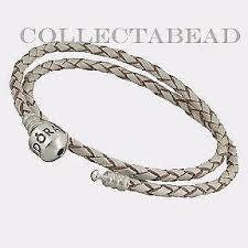 pandora silver leather bracelet images Pandora leather bracelet ebay JPG