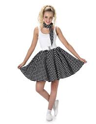 black fifties costume with dots for women vegaoo