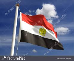 Image Of Flag Of Egypt Illustration Of Egypt Flag With Clipping Path