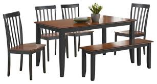 Is The Top To This Boraam Dining Table Set A Butcher Block Style