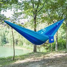 outereq portable nylon fabric travel camping hammock light
