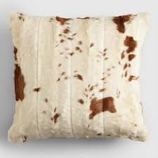 Faux Cowhide Chair Faux Cowhide Throw Pillow World Market