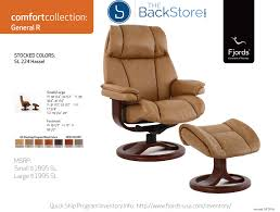 fjords general leather recliner chair and ottoman