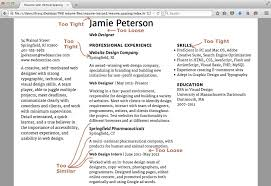 exercise resume add vertical space typographic web design 3