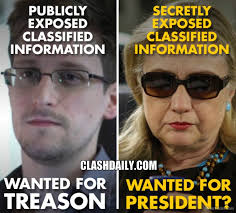 Snowden Meme - this pic brilliantly depicts the difference between hillary