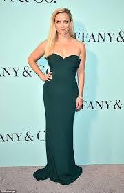 reese witherspoon dazzles in ultra chic emerald green gown daily