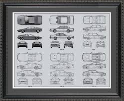 wall blueprints bmw m series automobile blueprint art wall hanging auto car gift
