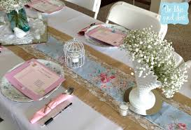shabby chic table runner the blue eyed dove a shabby chic bridal shower part 1 the blue