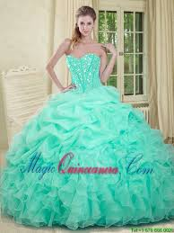 quinceanera dresses 2016 2016 apple green quinceanera dresses with beading and
