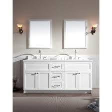 Ace  Inch Transitional Double Sink Bathroom Vanity Set In White - Bathroom vanities with quartz countertops