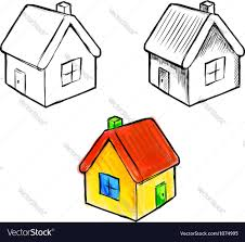 cute little house cute little house sketch royalty free vector image