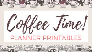 coffee planner stickers printable coffee shop printable calendar and weekly planner stickers
