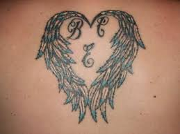 angel wings heart tattoo eemagazine com