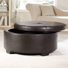 Leather Ottoman Storage Ottoman As Coffee Table Will Be The Perfect Decision For Your