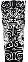 black maori tattoo design for forearm by rory