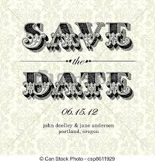 vintage save the date vector vintage save the date card easy to edit all pieces eps