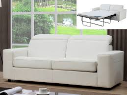 canap convertible avec tetiere canapé relax convertible 3 places simili camus ii blanc