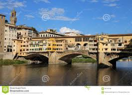 Italy Houses by Florence Italy Houses And Shops In The Ancient Bridge Stock Photo