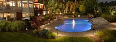Custom Landscape Lighting by Custom Landscape Design Build U0026 Installation Gallivan Corporation