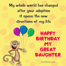 birthday wishes for adopted daughter cards wishes