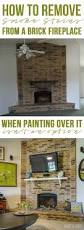 how to remove smoke stains from a brick fireplace surround stone