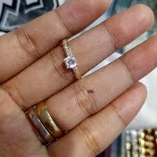 wedding ring saudi gold 18k saudi gold ring pawnable preloved women s fashion jewelry on