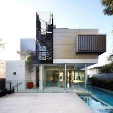 cute small contemporary house feature escorted by long pool style