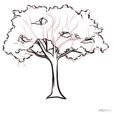 pictures drawing realistic tree drawings art gallery