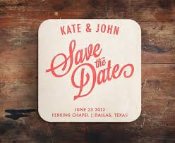 save the date coasters simple letterpress save the date coaster