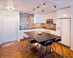 Kitchen With Track Lighting by Small Bedroom Illuminated With Track Lighting Fixtures Over The