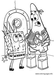 punk spongebob coloring free7bb5 coloring pages printable