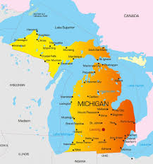 Map Of Lower Michigan by Michigan State Cna Requirements And Approved Cna Programs
