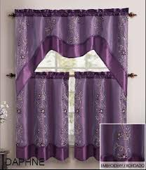 Kitchen Tier Curtains Enchanting Purple Bathroom Window Curtains And Bathroom Window