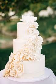 bridal cakes three tier white sugar flower wedding cake tier wedding