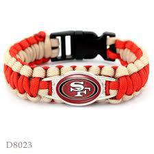 christmas gifts for 49ers fans aliexpress com buy 10pcs san francisco 49ers bracelet sport team