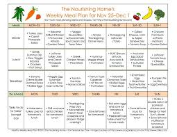 meal plan monday november 25 december 8 the nourishing home